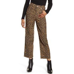 LEVI'S Ribcage Leopard Straight Leg Corduroy